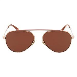 NWOT Calvin Klein Aviator Sunglasses - Rose Gold